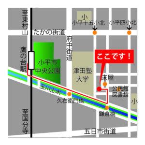 風鈴草の地図